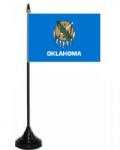 Oklahoma Desk / Table Flag with plastic stand and base.
